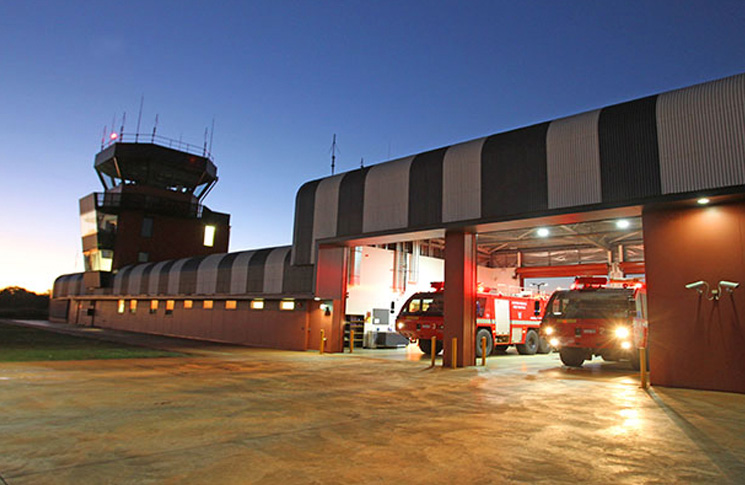 Broome air traffic control tower and aviation rescue fire station