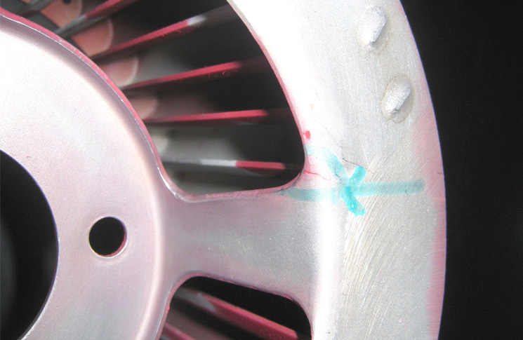 SDR 510018504 Bell 206B Rotorcraft cooling fan system - impeller cracked. Oil cooler blower assembly cracked. P/No: 206061432031