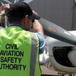CASA inspector checking small aircraft