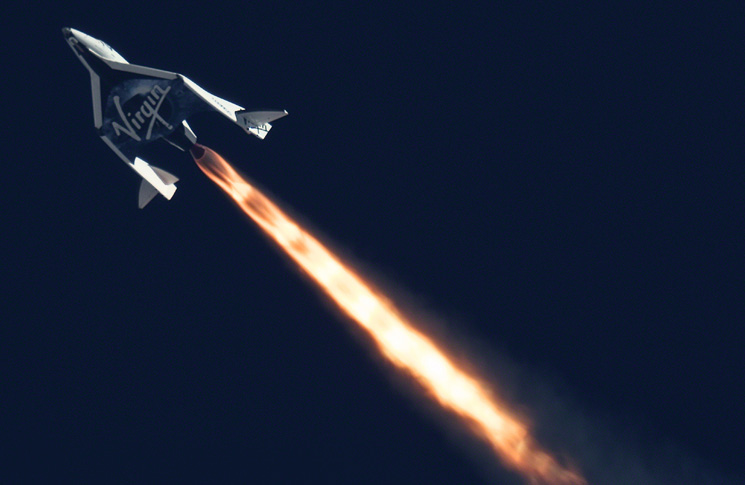SS2 flies supersonic for the first time Photo: Virgin Galactic
