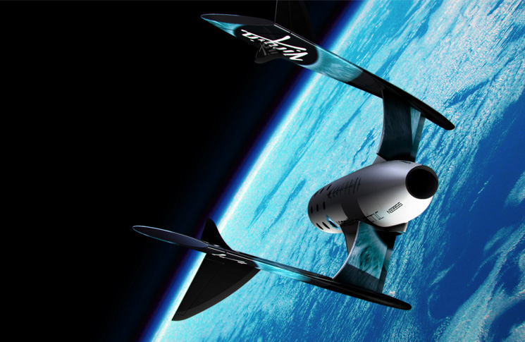 Close up of SS2 during successful rocket-powered flight Photo: Virgin Galactic