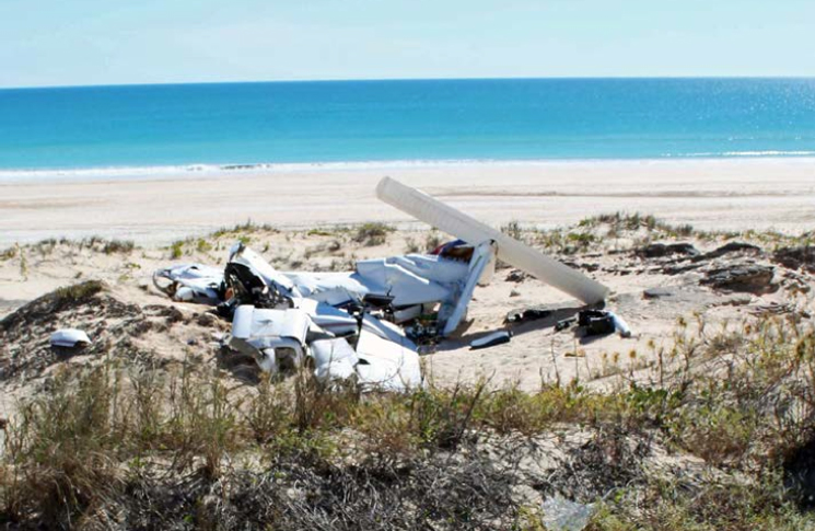 Wreckage of the Piper PA-34