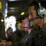 Royal New Zealand Air Force (RNZAF) Air Warfare Specialist, Flight Sergeant Simon Martelli, operates the radar and electro optics camera of the P-3K2 Orion during a search mission over the southern Indian Ocean in support of the Australian Maritime Safety Authority-led search for Malaysia Airlines MH370. Image: © Commonwealth of Australia, Department of Defence