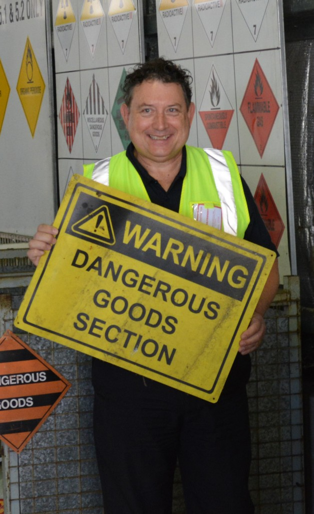 Adrian Tusek, one of CASA's Dangerous Goods Inspectors