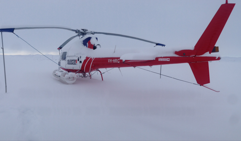 The aircraft prior to the crash. Image: ATSB | Helicopter Resources