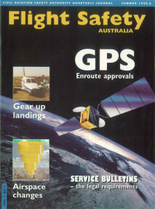The first edition of 'Flight Safety Australia'.