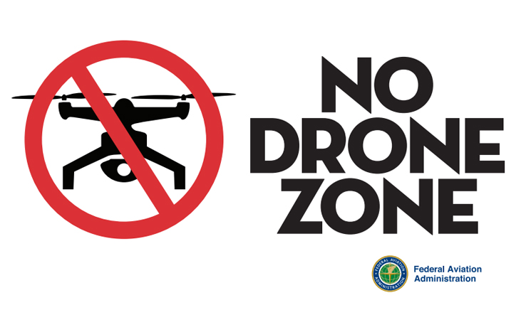 Artwork from the FAA's 'No Drone Zone' campaign