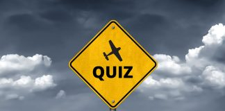 road sign with the word quiz