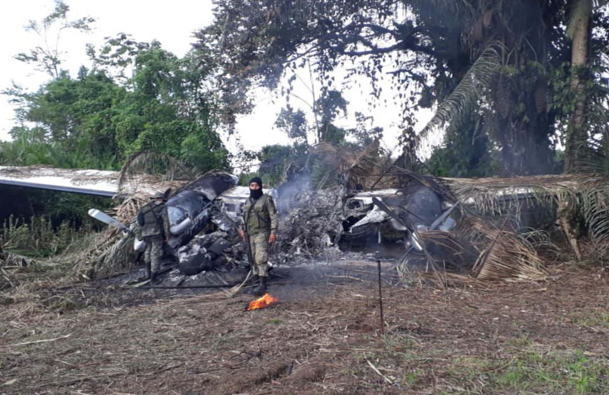 Beechcraft King Air crashed remains