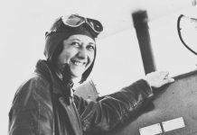 Lores Bonney—first Australian woman to fly solo around Australia, to fly solo from Australia to England and to fly solo from Australia to South Africa.