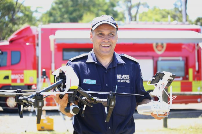 Chief remote pilot Anthony Wallgate from Fire and Rescue NSW