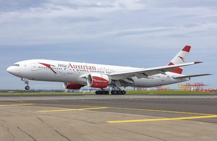 An Austrian Airlines aircraft