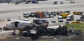 The crashed Superjet