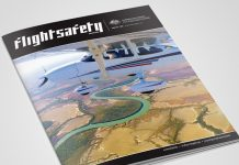 The cover of the December edition of Flight Safety Australia magazine