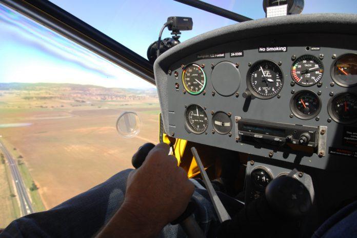 Close up of a Aeroprakt A-22 Foxbat ultralight instrument panel