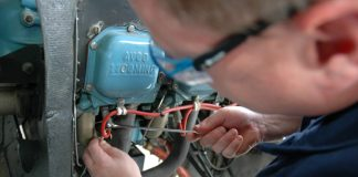 Engineer working on a Cessna 172M engine | Civil Aviation Safety Authority