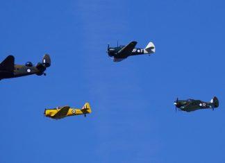 From left: Hudson, Boomerang, Harvard and Wirraway. image: Stuart Ferguson