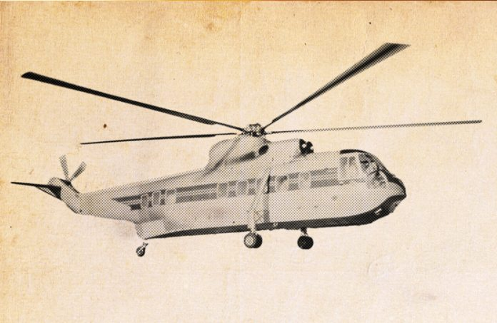 modified image of 28-seat S61L helicopter