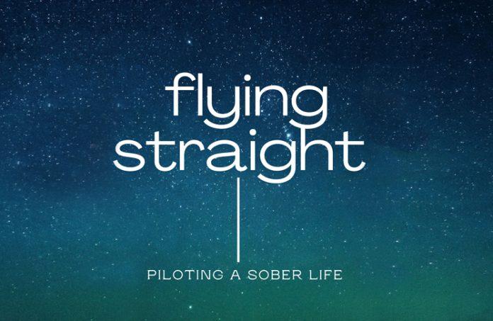 logo for flying straight podcast