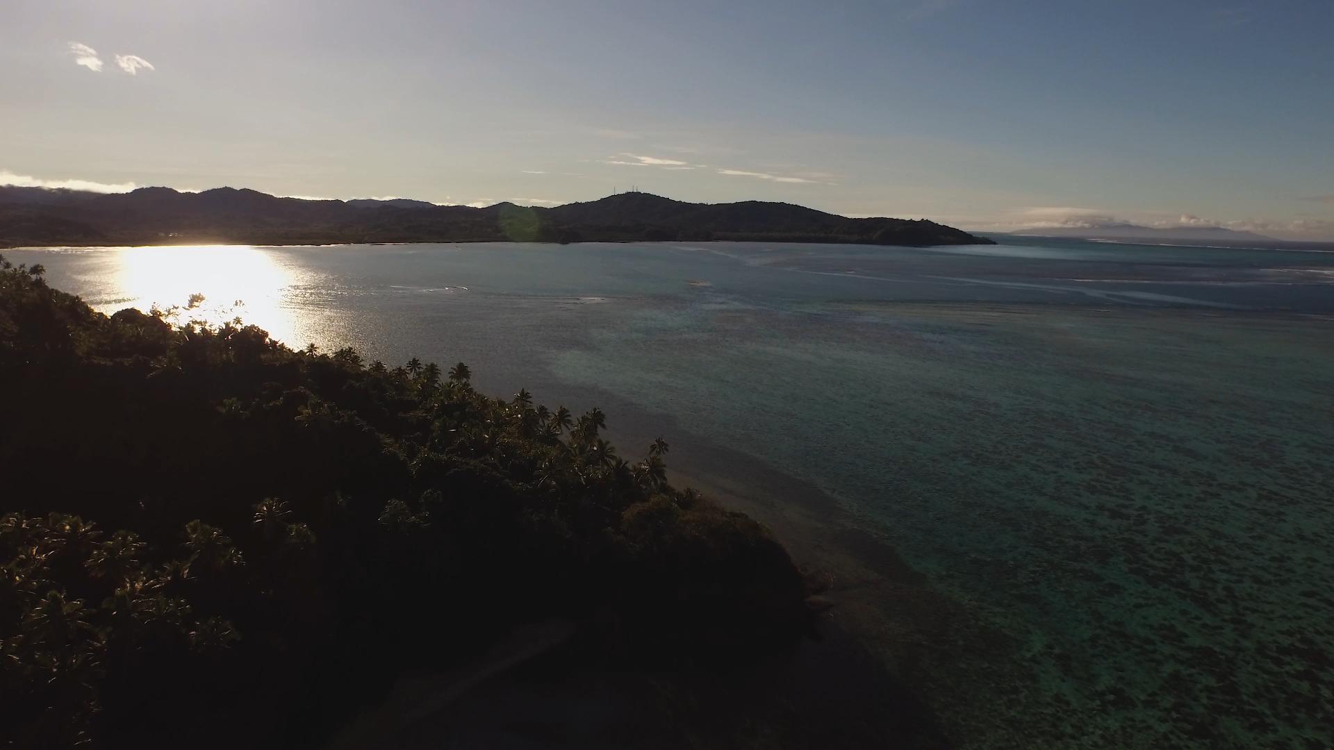 Drone photo taken in Fiji