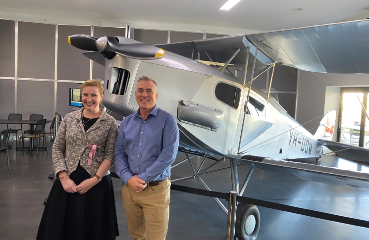 Pip Spence, CASA CEO and Director of Aviation Safety, and Steve Campbell, CEO of the Regional Aviation Association of Australia